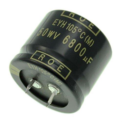 2x Chimique Condensateur 6800/µF 50V 105/°C ; EYH07CV468H02K ; 6800uF