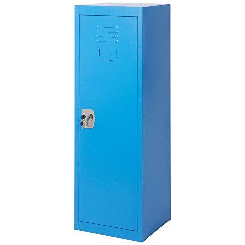 Merax SMART Kids Metal Storage Locker for Home and School, 48-Inch (Blue) - Double Door Utility Cabinet