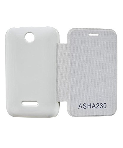 new style a6440 26442 COVERNEW Flip Cover for Nokia Asha 230 - White: Amazon.in: Electronics