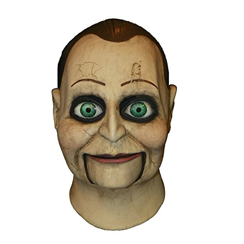 Trick Or Treat Mask (Trick or Treat Studios Men's Dead Silence-Billy Puppet Mask, Multi, One Size)