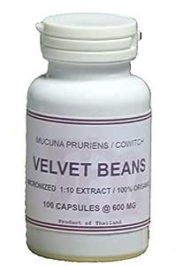 Tongkatali.org's Velvet Beans Extract 1:10 100 Capsules 600 mg