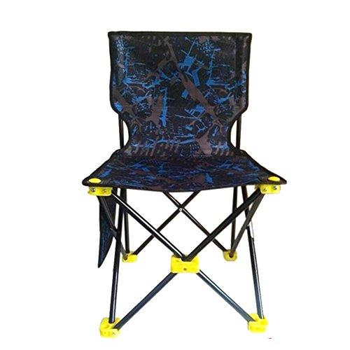 Oversized Aluminum Folding Cot - Ursa Minor Outdoor Folding Fold Aluminum Chair Stool Seat Fishing Camping (Blue)