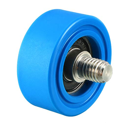 Replacement Conveyor Rollers (uxcell 35x35x0.5mm Roller Idler Bearing Pulley Sliding Conveyor Wheel Threaded Rod M810 Blue)