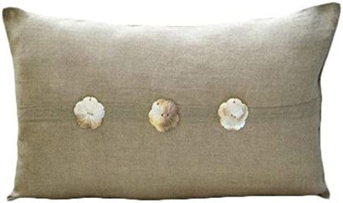 The HomeCentric Luxury Ecru King Shams, Mother of Pearls King Pillow Shams, 20×36 inch 50×90 cm Cotton Linen King Pillow Sham, Contemporary King Shams – Natural Pearlized
