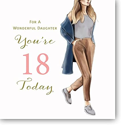 Amazon Large Happy 18th Birthday Card For A Wonderful Daughter