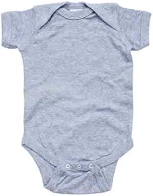 4bf537936 Apericots Super Soft Cotton Blank Plain Comfy Baby Short Sleeve Bodysuit