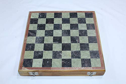 12' Chess Set - PH Artistic Natural Stone Chess Set Pieces and Board Decorative Indoor Games Gift 12'x12''