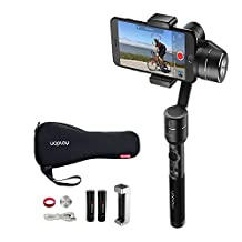 OFFICIAL AIbird Uoplay2 3 Axis Handheld Universal Smartphone Steady Gimbal Stabilizer for iPhone 7 and 7 Plus and GoPro Hero 3 4 5/other Sports Action Camera of Similar Size