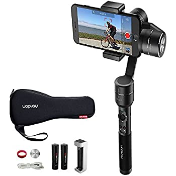 OFFICIAL AIbird Uoplay2 3 Axis Handheld Universal Smartphone Steady Gimbal Stabilizer for iPhone 8 and 8 Plus, Samsung Galaxy Huawei Xiaomi and GoPro Hero 3 4 5/other Sports Action Camera