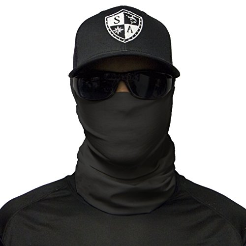 (SA CO Official TACTICAL BLACK Face Shield, Perfect for All Outdoor Activities, Protects Face Against the Elements)