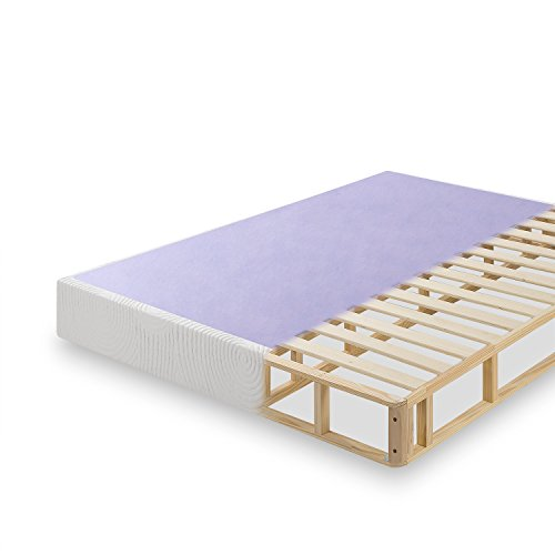 Zinus Edgar 8 Inch Profile Wood Box Spring / Mattress Foundation, King
