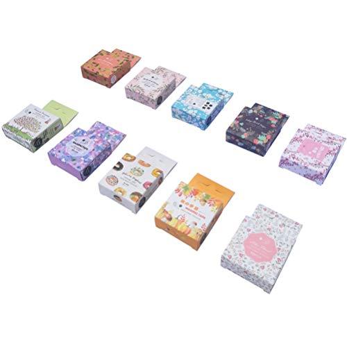 Floral Washi Masking Tape Set (10 Rolls) White Pink Sakura Cherry Blossom Kawaii Animal Rabbit Donut Autum Fruit Pine Cone Pumpkin Mushroom Decorative Sticker DIY Label for Scrapbooking Art -
