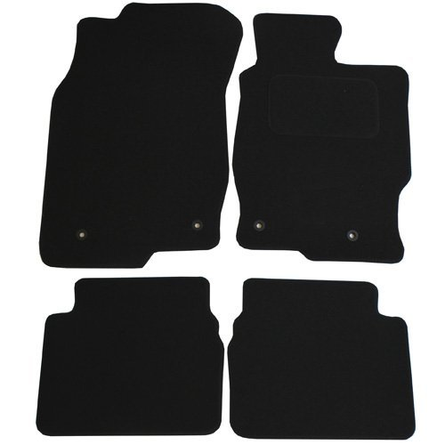 JVL Fully Tailored 4 Piece Car Mat Set with 4 Clips - Black 1155