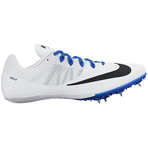 Nike Men's Zoom Rival S 8 Track Spike (12 D(M) US, White/Blue/Black)