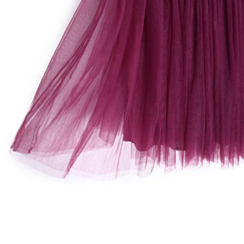 cd862c440 Flofallzique Tulle Tutu Girls Skirts for 1-12 Years Old Dancing Party  Toddler Clothes(
