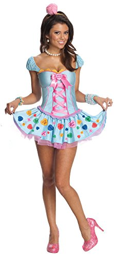 Sweetheart Candy Costume (Secret Wishes Women's Sweetheart Adult Costume, Multicolor, Small)