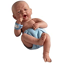JC Toys 18504 La Newborn First Yawn 15-Inch Real Boy Vinyl Doll