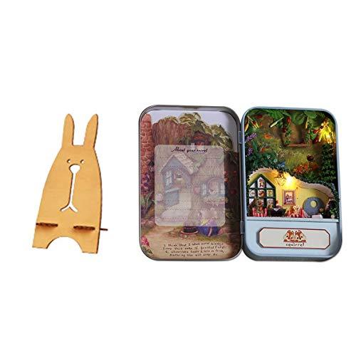 Casa de Las Ardillas de Tivoli Casa de Bricolaje Hecha a Mano de Bricolaje Teatro Casa de muñecas Caja en Miniatura Mini...