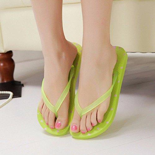 Abajo Damas modische de Productos Dick UE36 Verde Flip LIUXINDA Verde Zapatos Nuevos Flops Moda Verano XZ española Zapatillas Zapatillas Flip Flops Zapatillas wqpOt7