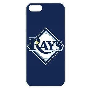 MLB Major League Baseball Tampa Bay Rays Apple iPhone 5 TPU Soft Black or White case (White)