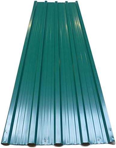 Deuba 12x Paneles para tejado 7m² de chapas perfiladas Verde Techo Pared de Metal Exterior 129 x 45 cm cobertizos jardín: Amazon.es: Jardín