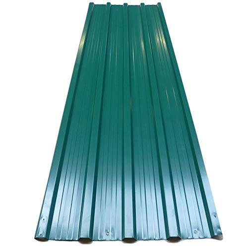12x plaques tôles profilée/ondulée 129 x 45 cm =7m² bricolage toit cabane abri Deuba GmbH & Co. KG