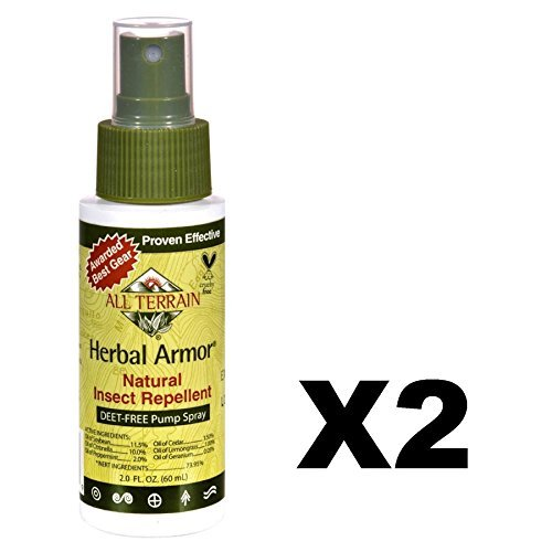 - 2 Packs of All Terrain Herbal Armor Natural Insect Repellent - 2 Fl Oz