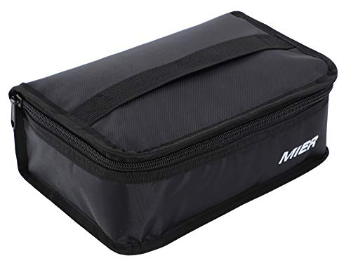 MIER Portable Thermal Insulated Cooler Bag Mini Lunch Bag for Kids, Black ()