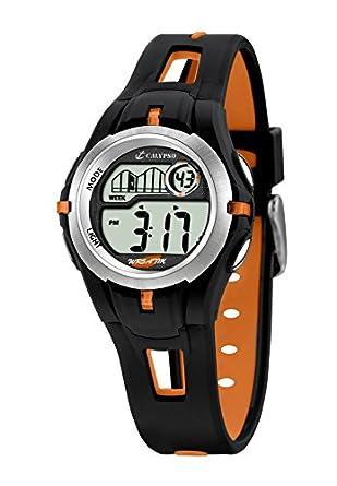 Calypso 5506/2 - Reloj para niños de cuarzo, correa de goma color (luz, cronómetro, cuenta atrás, alarma): Amazon.es: Relojes