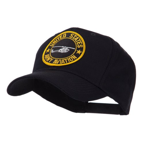 E4hats Army Circular Shape Embroidered Military Patch Cap - Aviation OSFM Aviation Cap