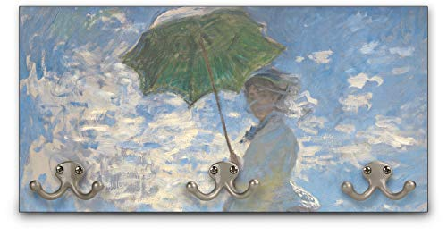 YouCustomizeIt Promenade Woman by Claude Monet Wall Mounted Coat Rack