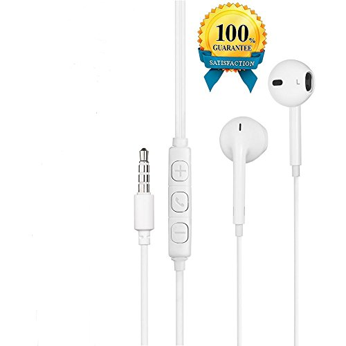 Poweron 1 Pack Premium Quality Earbuds With Remote, Microphone, Volume Works For All iPhone iPod iPad