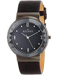 Skagen Womens SKW2224 Leonora Quartz Three-Hand Stainless Steel Gray Watch