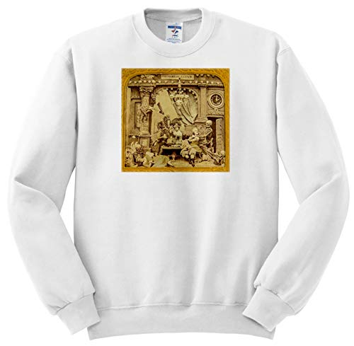 (Scenes from The Past - Stereoview - 1800s French Diabolerie Vintage Stereoview Powers of Satan - Sweatshirts - Adult Sweatshirt 4XL)