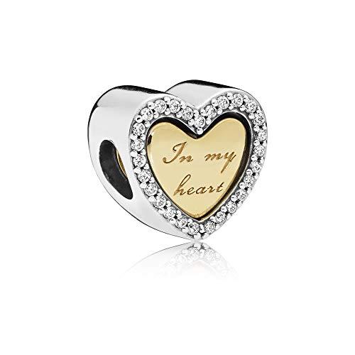PANDORA In My Heart 18k Gold Plated PANDORA Shine Collection Charm - 767606CZ (Charm Pandora Chicago)