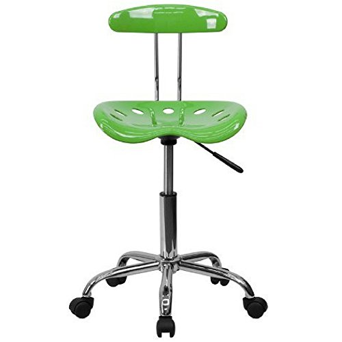 - FF Tractor Seat Stool With Backrest Swivel Contemporary Comfortable Space Saver Computer Desk Task Chair Armless Office Chair Height Adjustment Carpet Casters Wheels Modern Lime And eBook By NAKSHOP