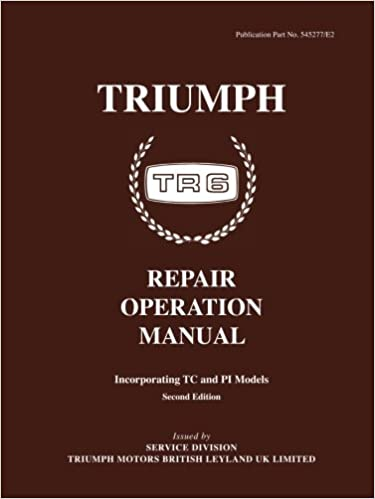 Triumph Tr6 Operation Manual (Official Workshop Manuals