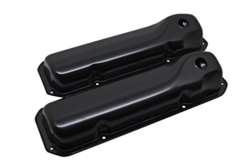 1969-82 Compatible/Replacement for FORD SMALL BLOCK 351C-351M-400M-BOSS 302 STEEL VALVE COVERS - BLACK