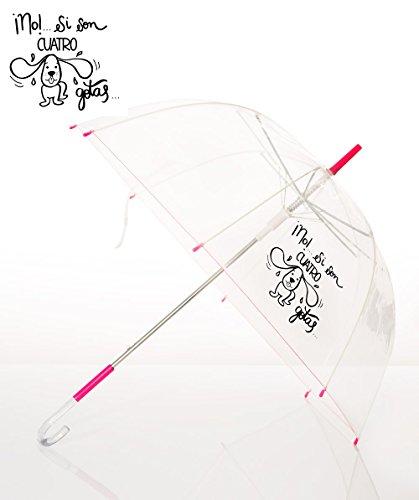 Paraguas transparente con frase: