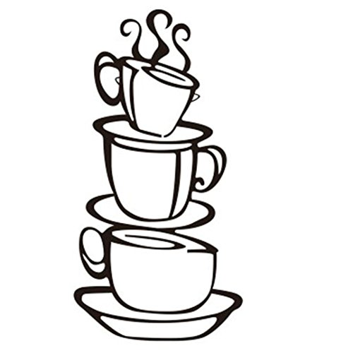 AIMTOPPY Removable DIY Kitchen Decor Coffee House Cup Decals Vinyl Wall Sticker