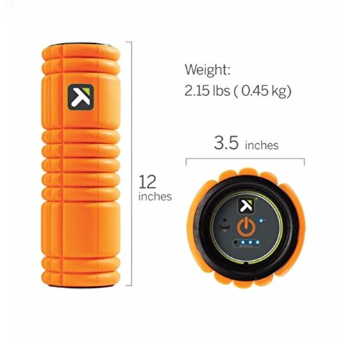 TriggerPoint GRID VIBE Vibrating Foam Roller for Pain Relief, Relaxation, and Recovery
