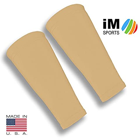 iM Sports SKINGUARDS Skin Protection Forearm Sleeves + Protects Aging or Thin Skin + UV Protection - Unisex + Made in USA - Light - Medium / Large - - Geri Sleeves