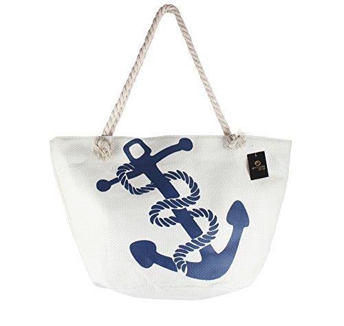 plage zip avec grand sac de vacances Sac pochette 5xvq7gXwn