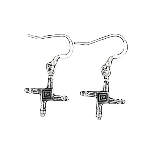 Corinna Maria 925 Sterling Silver St  Brigids Cross Earrings