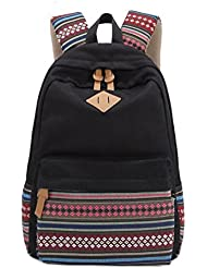 Stripe Canvas School Backpack College Campus Bag Rucksack Satchel Travel Sports Outdoor Travel Gym Bag Schoolbag...