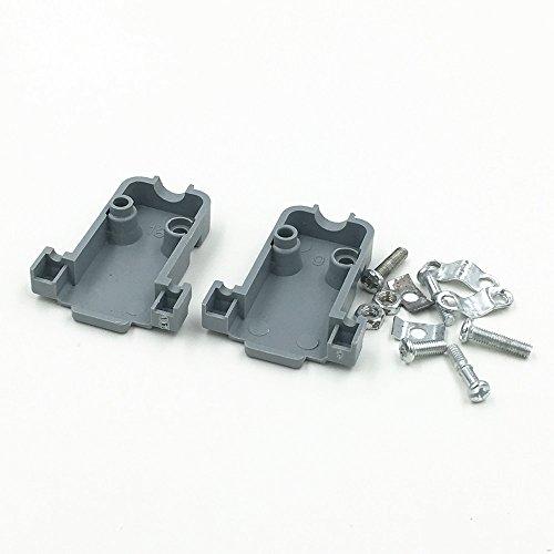 10Pcs Plastic Backshell Cover Hood D-SUB for Data Cable HDB VGA DB9 DB15 9/15Pin with Screws Set ()