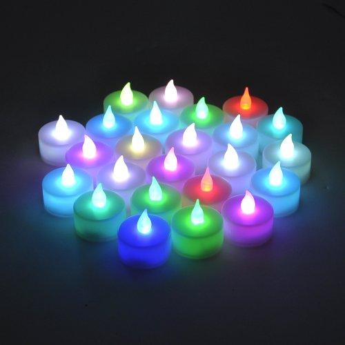 colored battery tea lights - 8