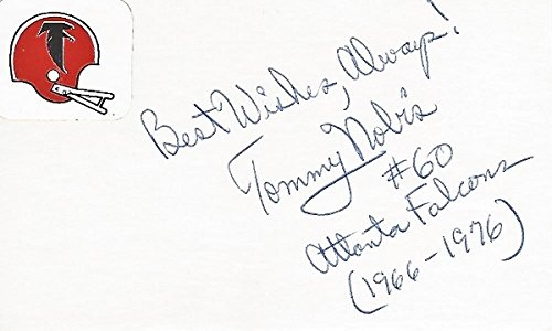 Atlanta Falcons Hall Of Fame - Tommy Nobis Signed - Autographed Atlanta Falcons 3x5 inch Index Card - Guaranteed to pass PSA or JSA - College Hall of Fame