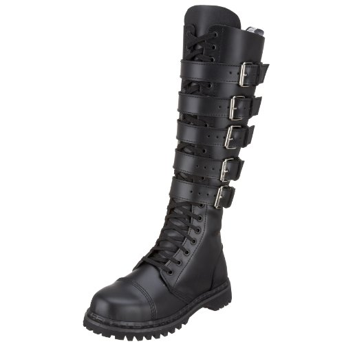 Demonia GRAVEL-20 - Botas Hombre Blk Leather