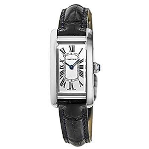 Cartier Tank Americaine WSTA0016 - Reloj de pulsera para mujer, acero inoxidable, color azul 11